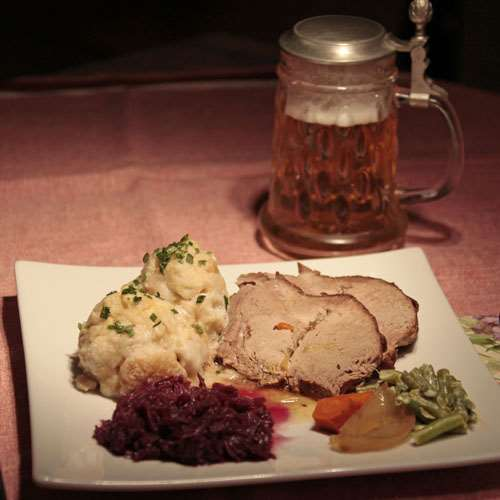 Traditional German Dinner