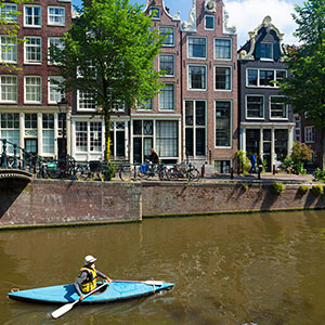 Exclusive Kayak Adventure Through the Canals of Amsterdam