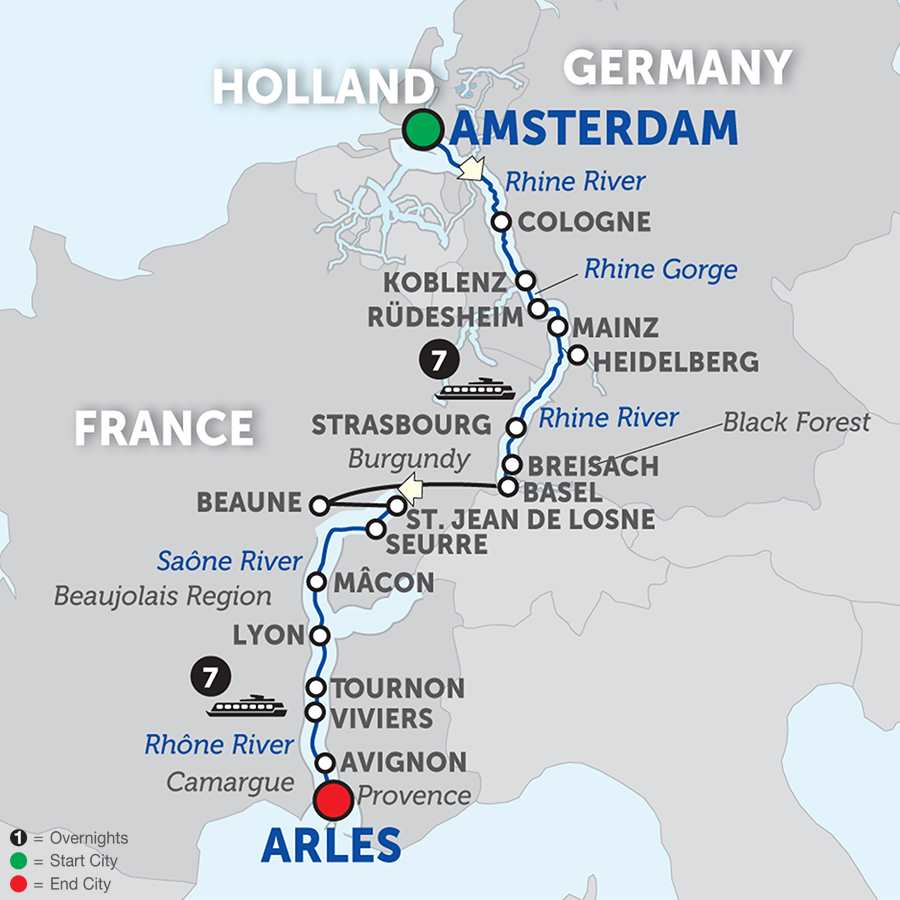 Rhine and Rhône Revealed Cruise Only Southbound (WAL02018)