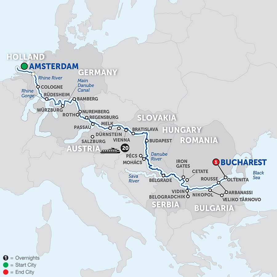 Iconic Rivers of Europe – The Rhine, Main and Danube – Eastbound (WAO2018)