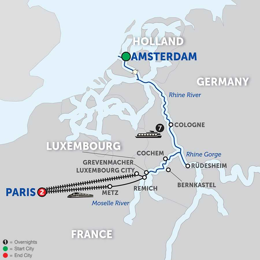 Canals, Vineyards and Paris Southbound (WAR2018)