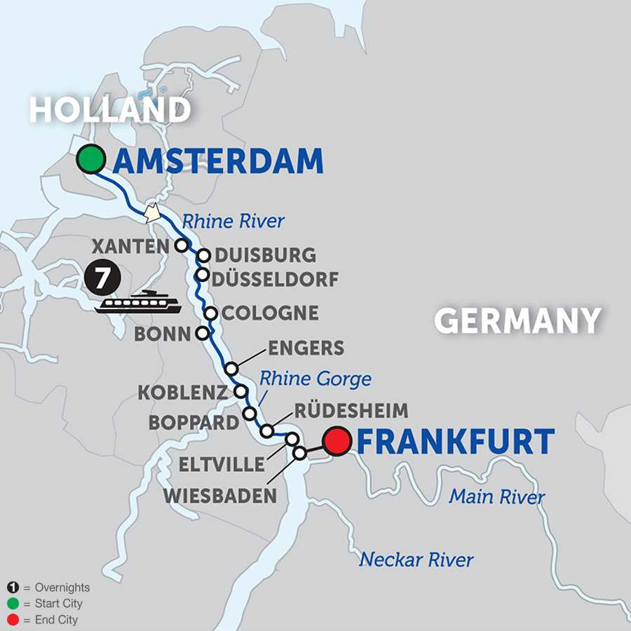 Cheap Rhine River Cruises: Active Discovery On The Rhine - Southbound