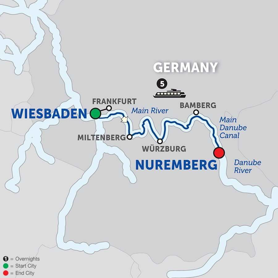 Christmas in the Heart of Germany – Cruise Only Eastbound (WFN02018)