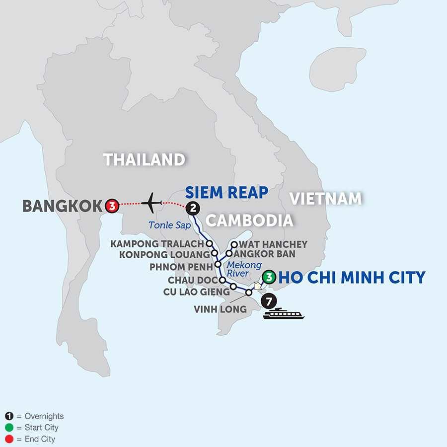 Fascinating Vietnam, Cambodia and the Mekong River with Bangkok – Northbound (WHSB2018)
