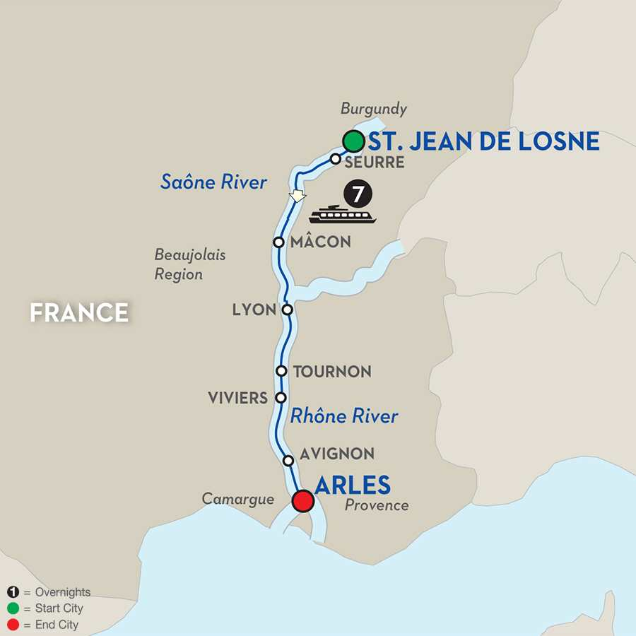 Burgundy and Provence for Wine Lovers Cruise Only (WJL0T12018)