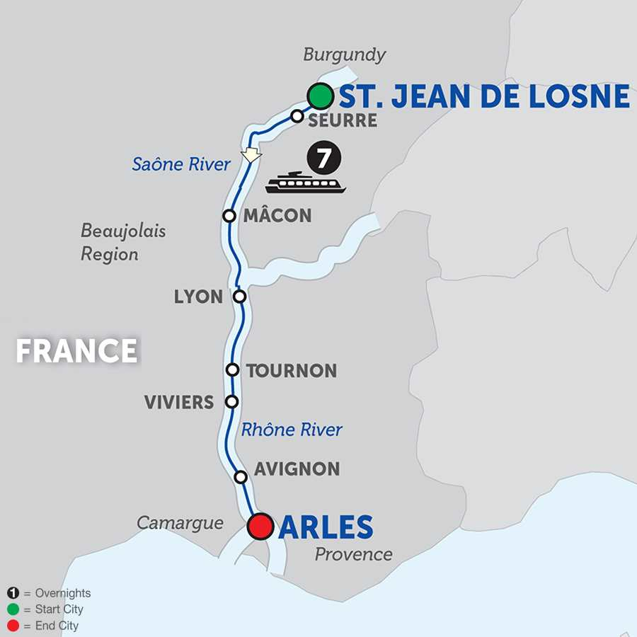Burgundy and Provence Cruise Only Southbound (WJL02018)