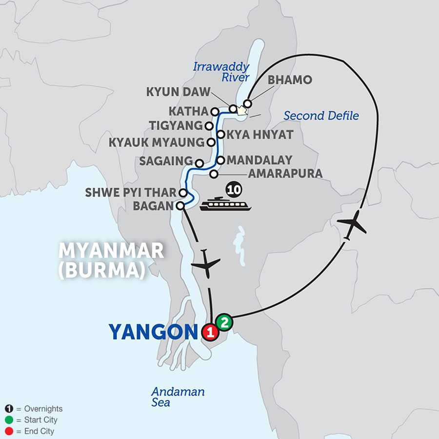 Golden Myanmar and the Alluring Irrawaddy – Southbound (WKB2018)