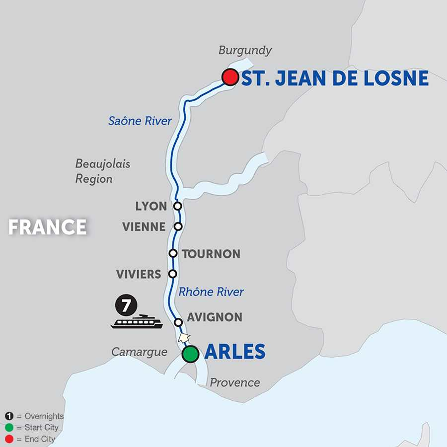 Burgundy and Provence – Cruise Only Northbound (WLJ02018)