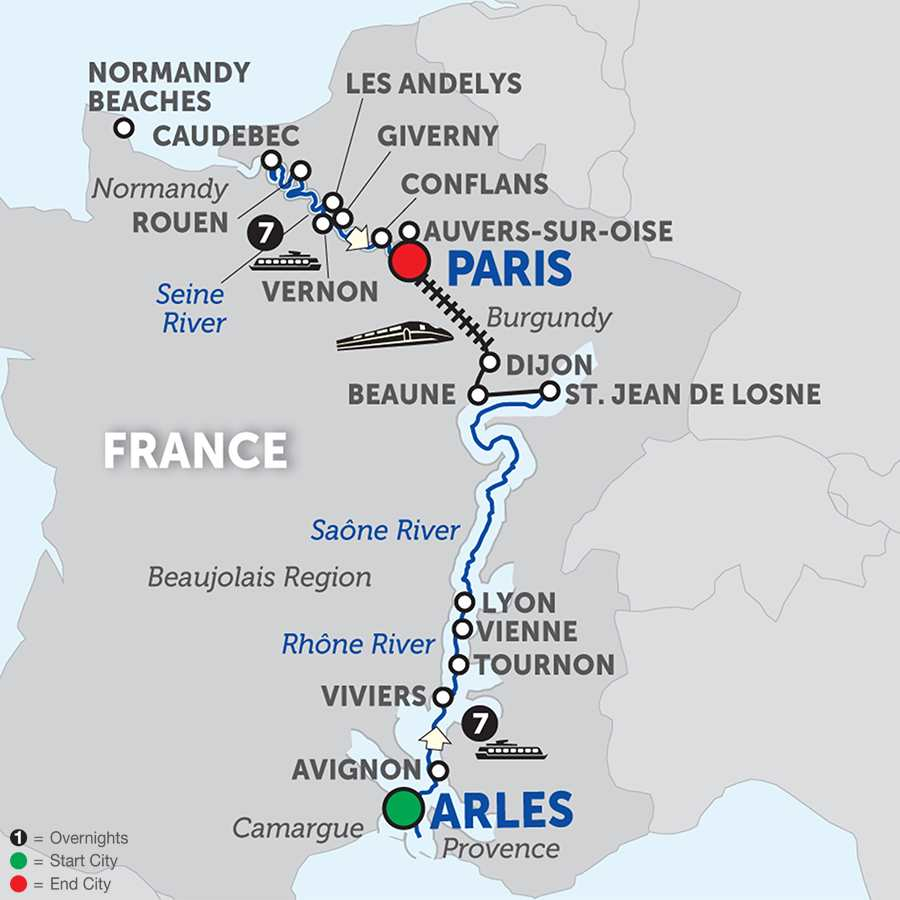 Grand France – Cruise Only Northbound (WLP02018)