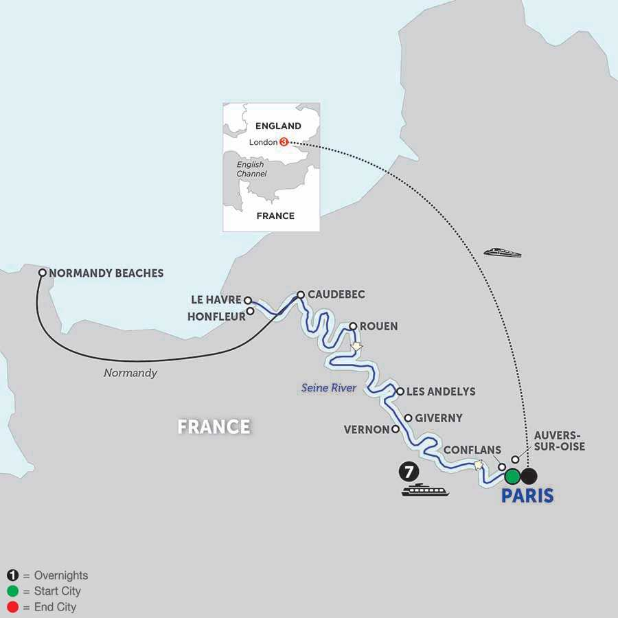 Paris to Normandy with London and Journeys Club Celebration (WPP1T32018)