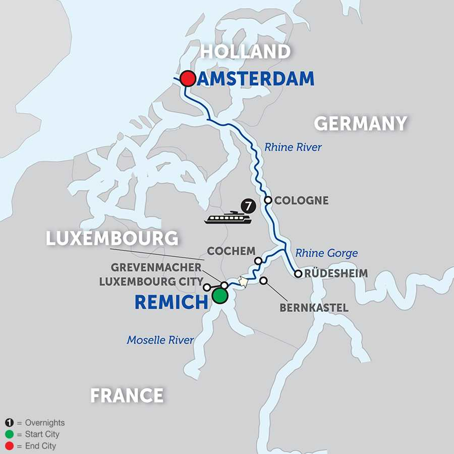 Canals, Vineyards and Paris Cruise Only Northbound (WRA02018)