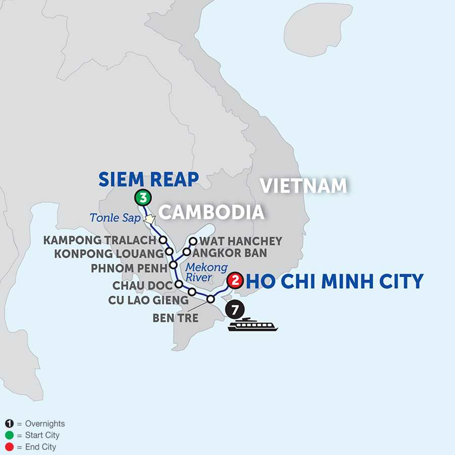Fascinating Vietnam, Cambodia and the Mekong River Southbound (WSH2018)