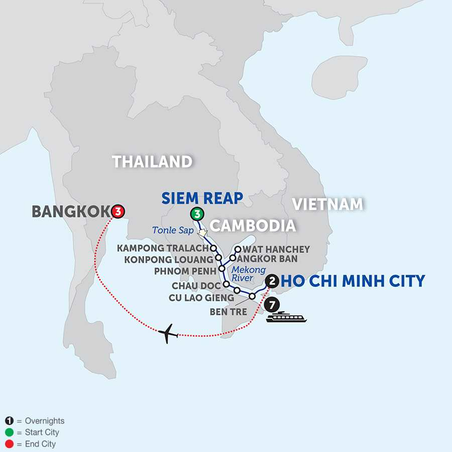 Fascinating Vietnam, Cambodia and the Mekong River with Bangkok – Southbound (WSHB2018)