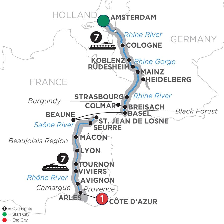 Rhine and Rhône Revealed – Southbound (WAL2019)