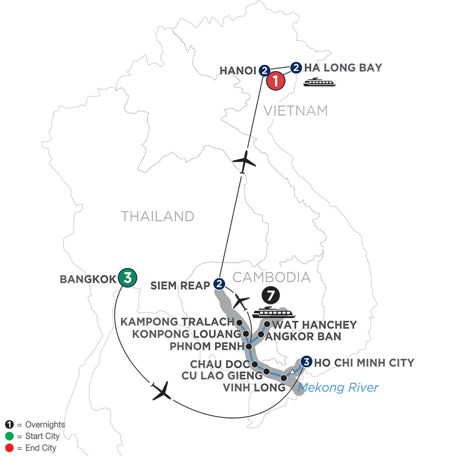 Ultimate Southeast Asia and The Majestic Mekong – Northbound (WBS2019)