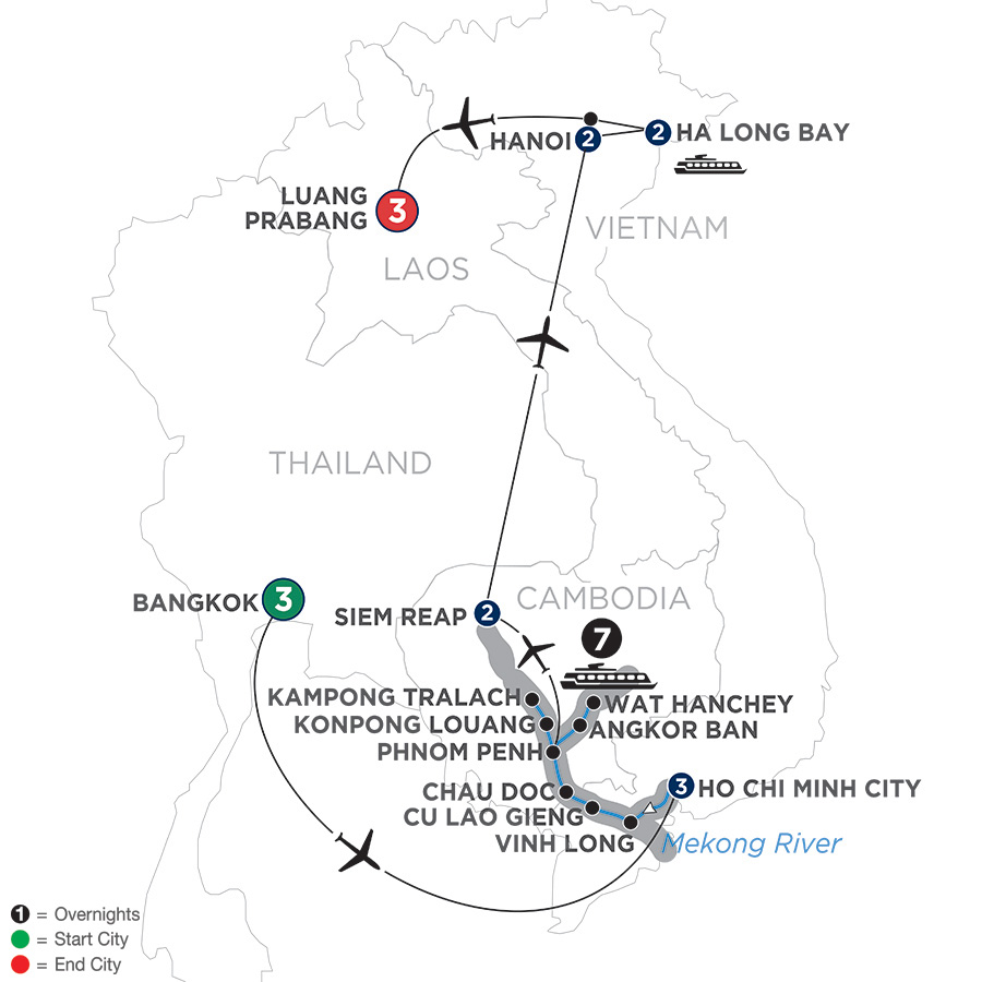 Ultimate Southeast Asia and The Majestic Mekong with Luang Prabang – Northbound (WBSL2019)