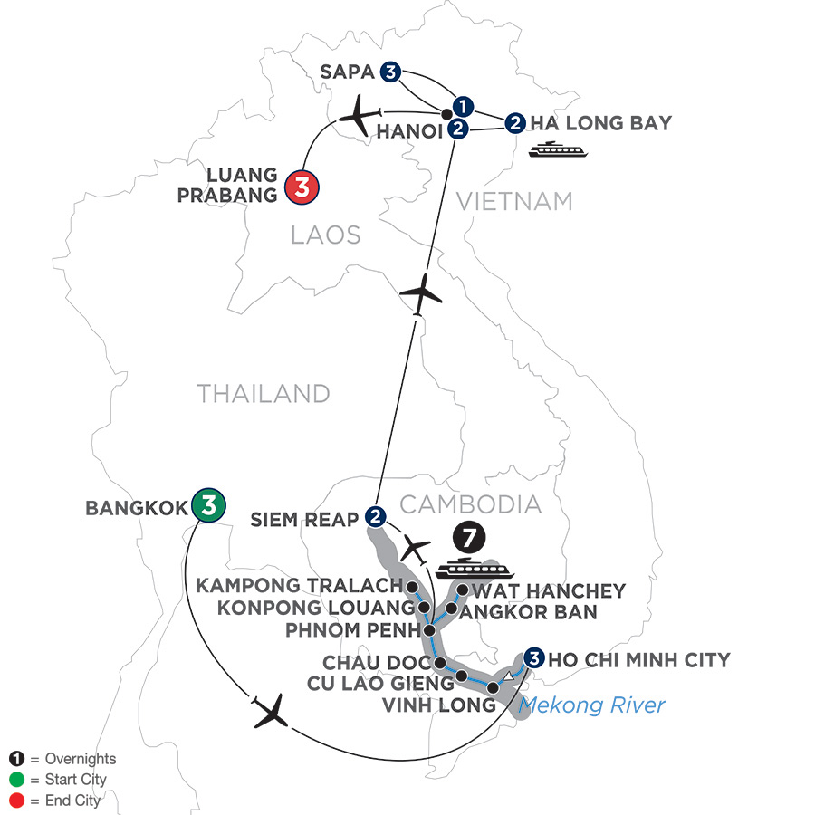 Ultimate Southeast Asia and The Majestic Mekong with Sapa and Luang Prabang – Northbound (WBSP2019)