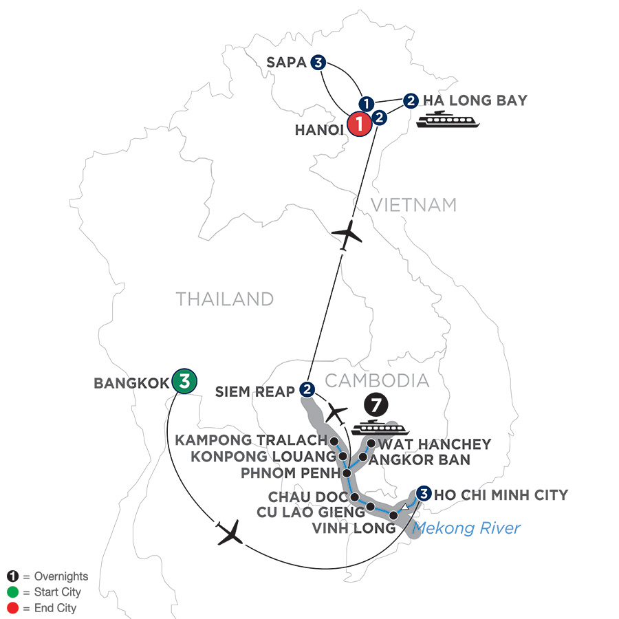 Ultimate Southeast Asia and The Majestic Mekong with Sapa – Northbound (WBSS2019)