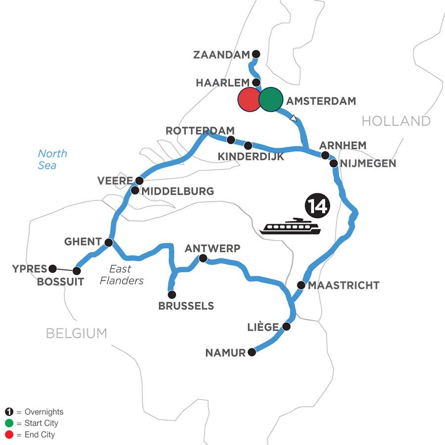 Grand Tulip Cruise of Holland & Belgium