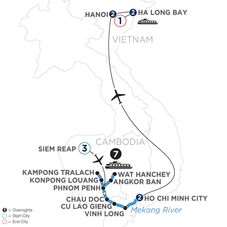 The Heart of Cambodia & Vietnam (Southbound)