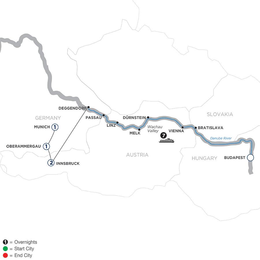 Danube Dreams with Oberammergau