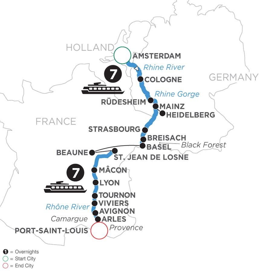 Rhine & Rhône Revealed (Southbound)