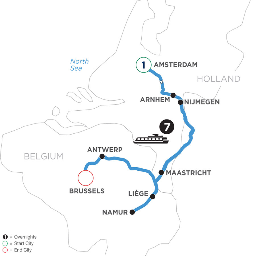 Tulip Time in Holland & Belgium with 1 Night Amsterdam