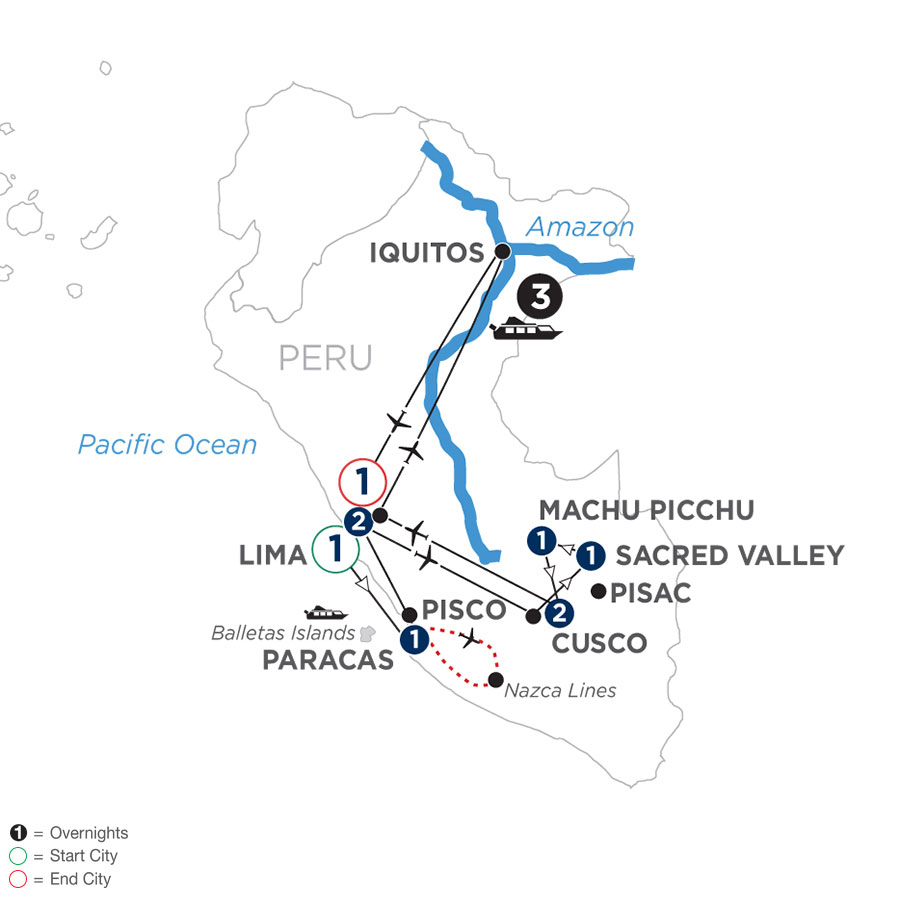 From the Inca Empire to the Peruvian Amazon with the Nazca Lines