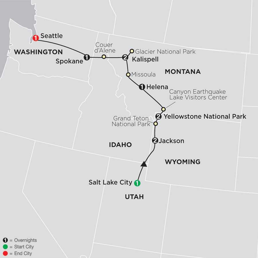 Tour West America Cosmos Affordable Travel - Map of the western us national parks