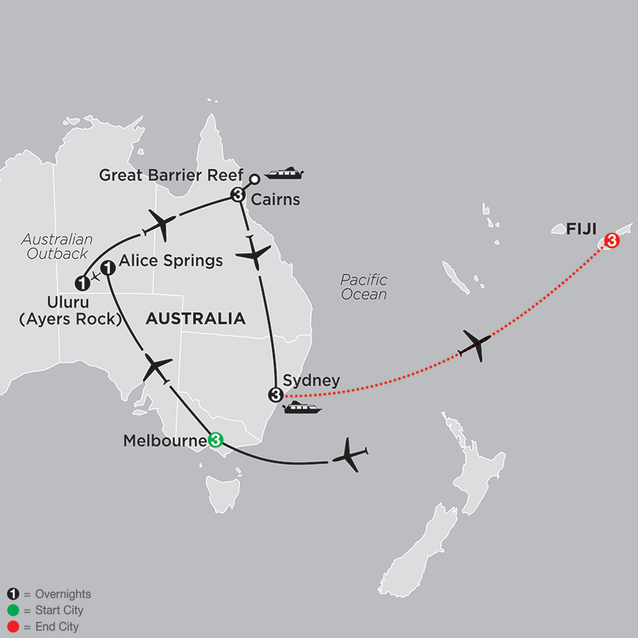 Highlights of Australia with Fiji (33582018)