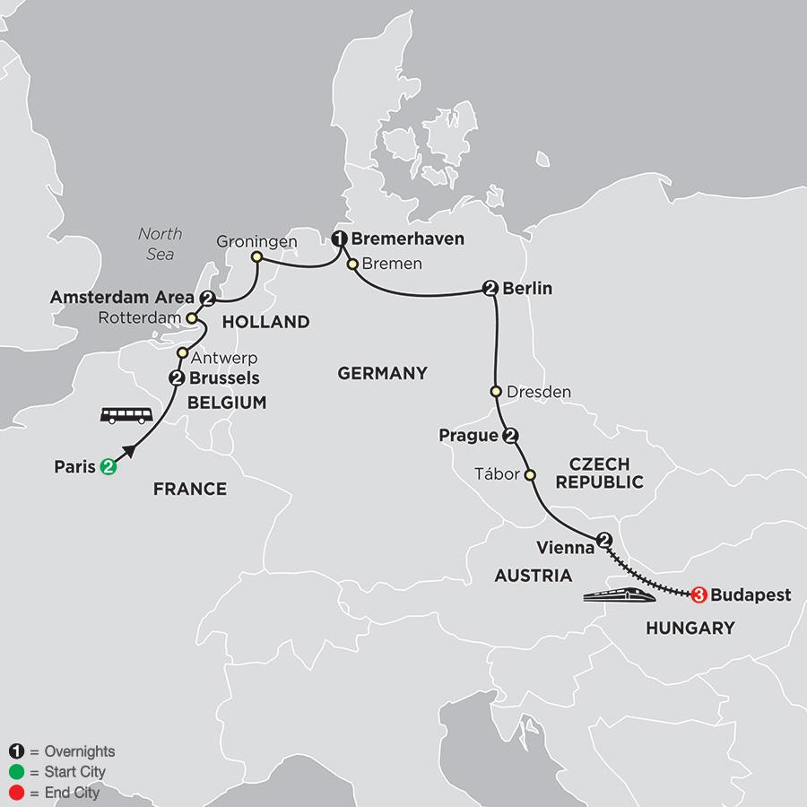 European Capitals with Budapest (476E2018)