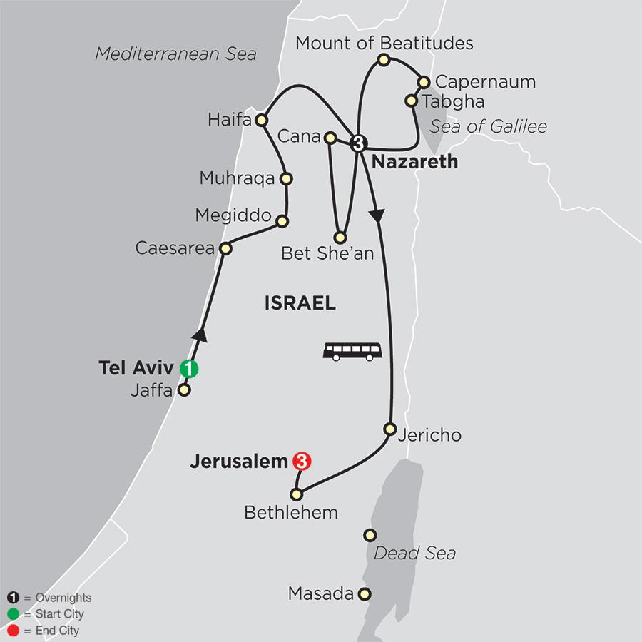 Holy Land Discovery – FaithBased Travel – Catholic Itinerary (53202018)