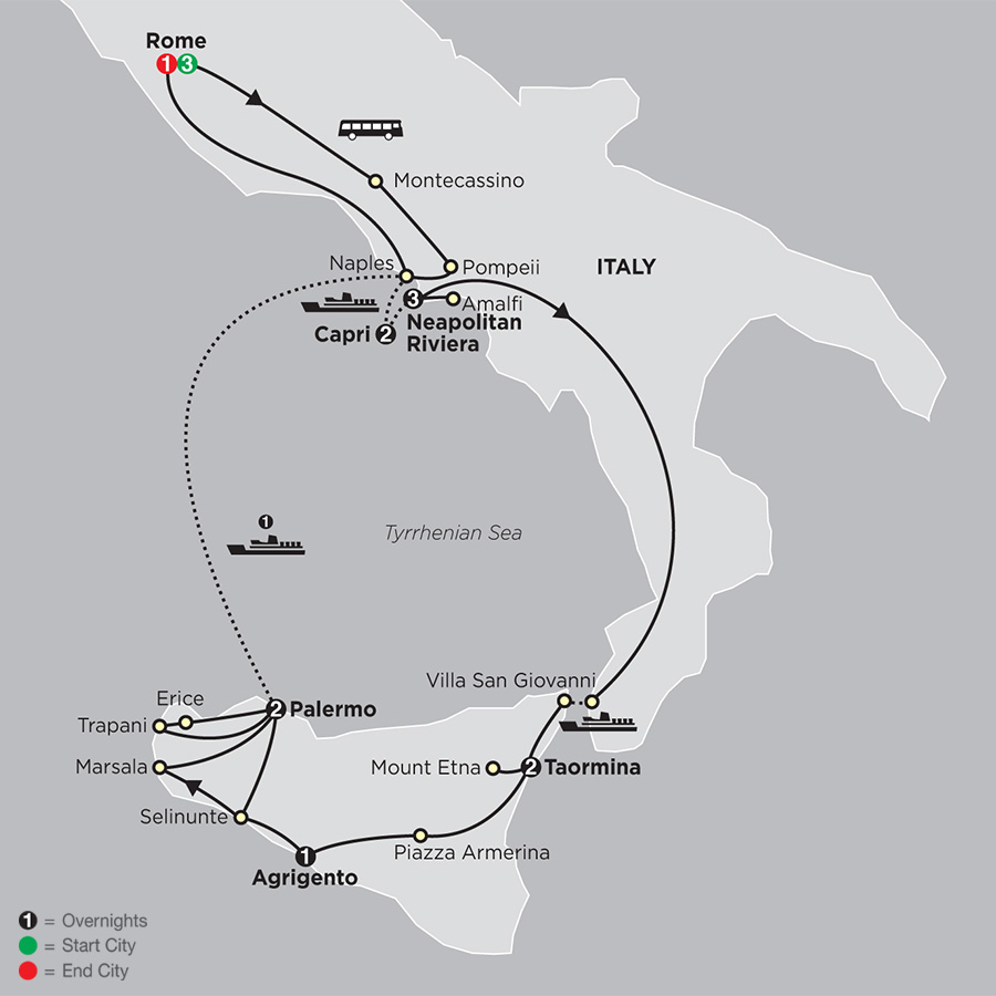 Rome, Sorrento and Capri with Sicily (63152018)