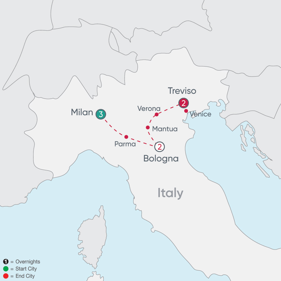Map Of Italy Showing Venice.Italy Tours Cosmos Affordable Tour Packages
