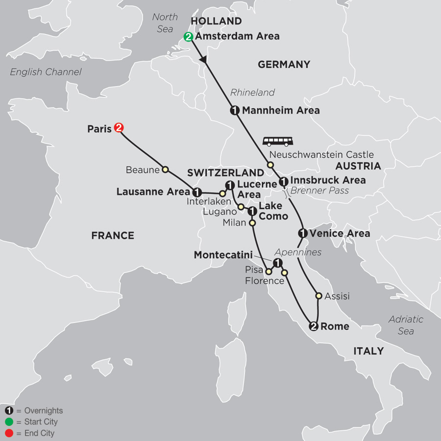 City Map Of Italy In English.Italy Tours Cosmos Affordable Tour Packages