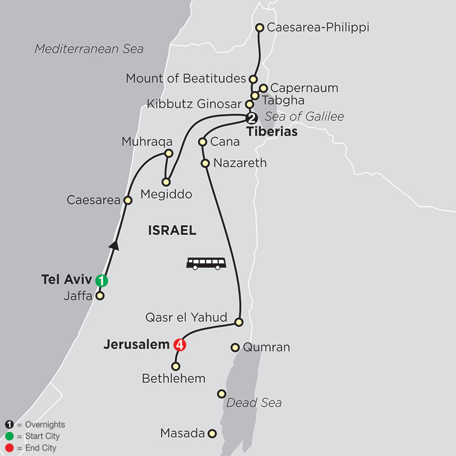 Biblical Israel FaithBased Travel – Protestant Itinerary (53402019)