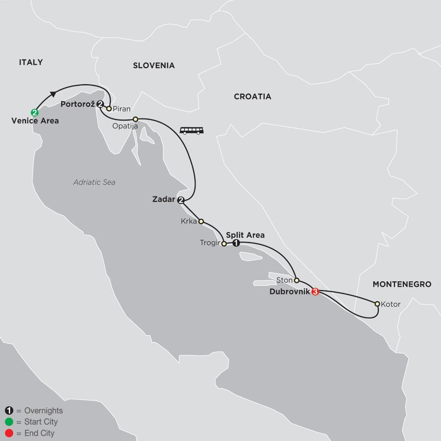 Venice, Slovenia, Croatia and Montenegro (67002019)