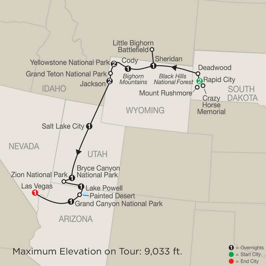 America National Park Vacation Packages Tours Globus America - Map of the western us national parks