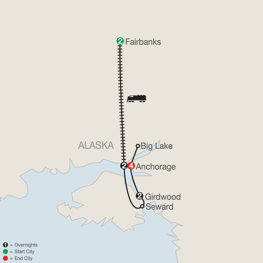 Alaskas Iditarod with Fairbanks (AIQ2018)