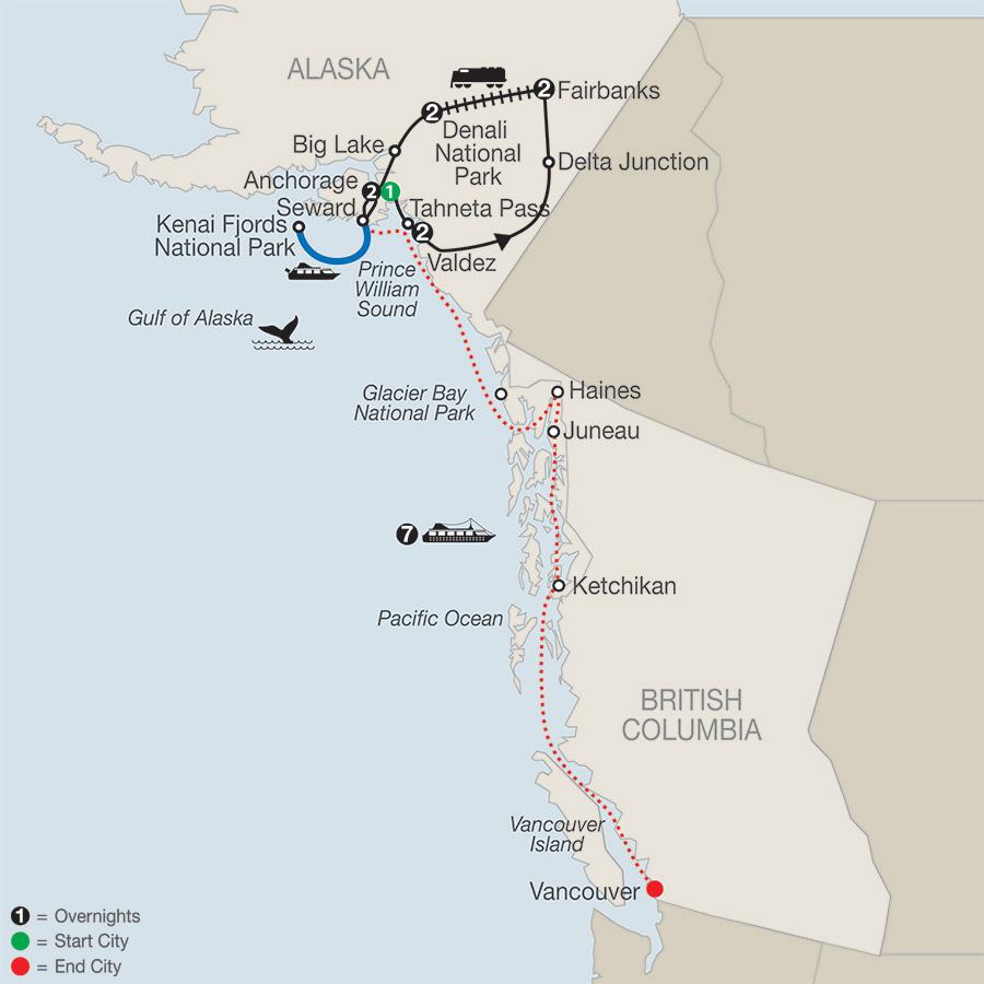 Spectacular Alaska! with Alaska Cruise (AJI2018)