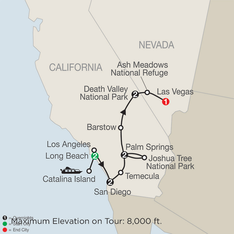 Southern California with Death Valley and Joshua Tree National Parks (ND2018)