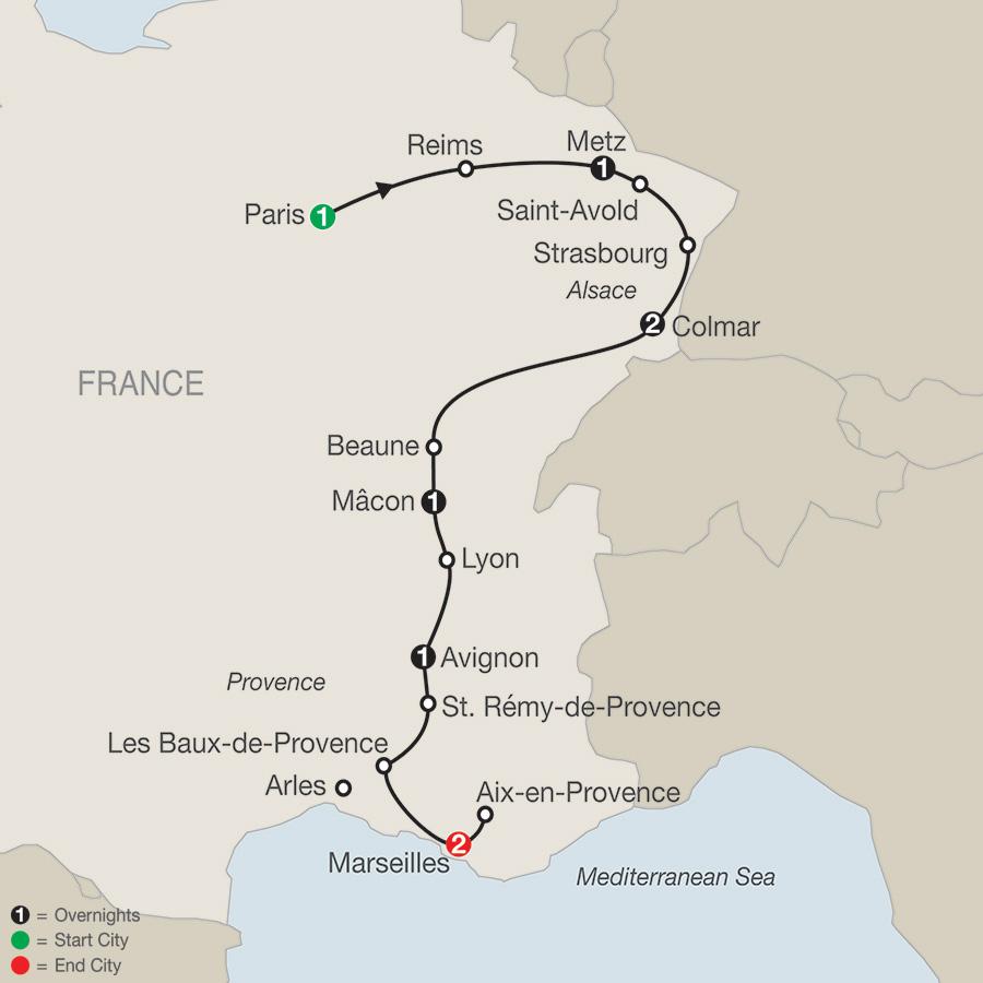 France Tours Globus Western Europe Tours - France tours