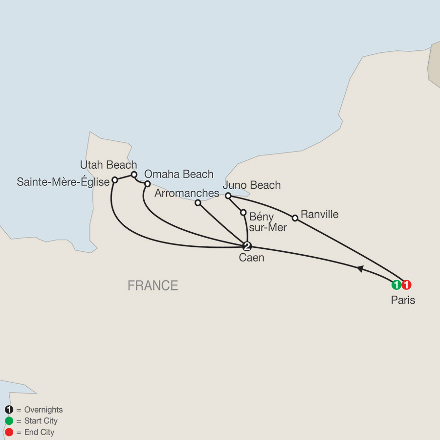 WWII DDay, Landing Beaches and Battle of Normandy (RW22018)
