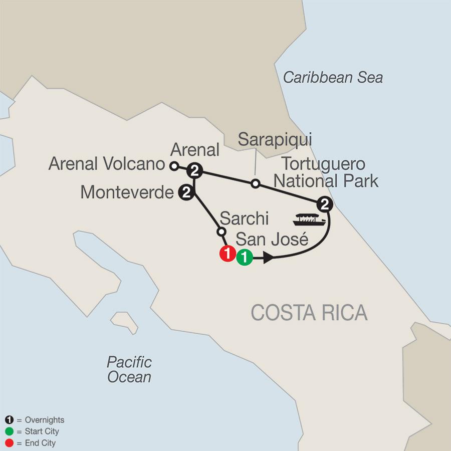 Natural Wonders of Costa Rica (SR2018)