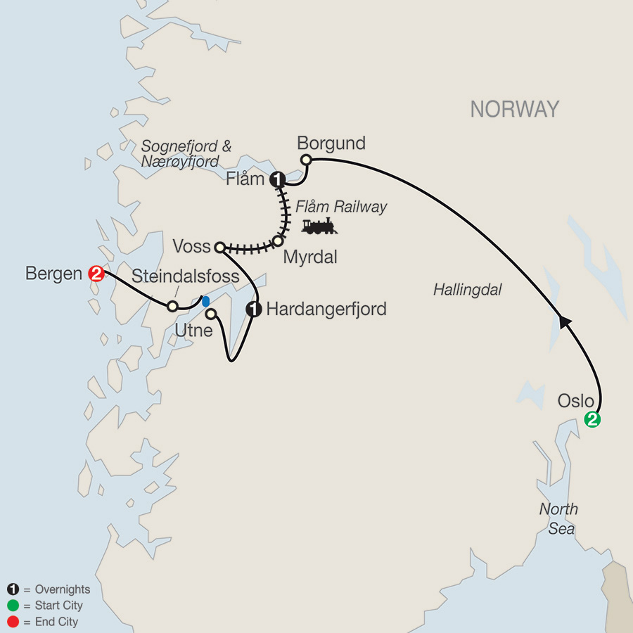 Russia Scandinavia Iceland Tours Globus - Norway map highlights