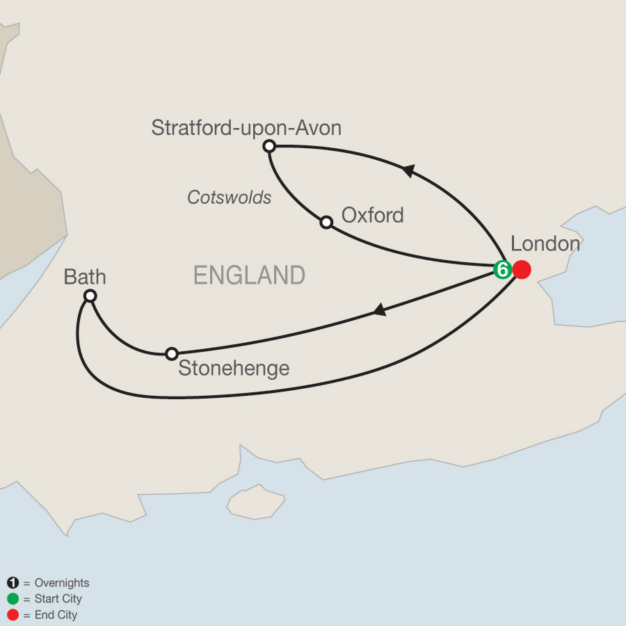 Escorted tours of london southern england