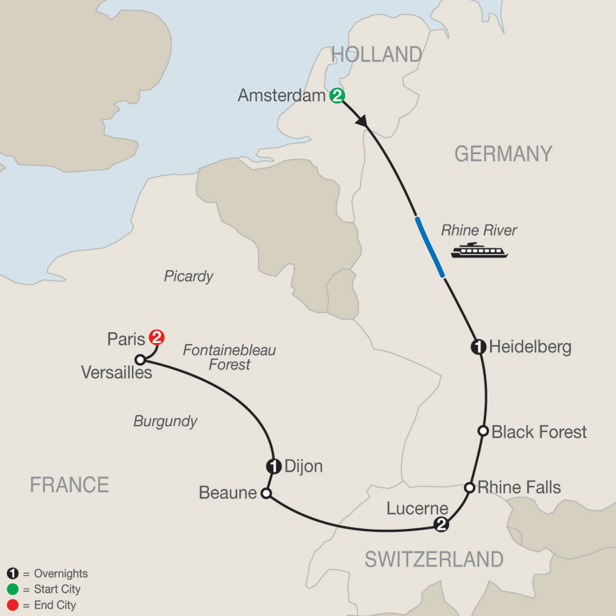 Map Of Germany And Amsterdam.Germany Tours Globus Europe Tour Packages