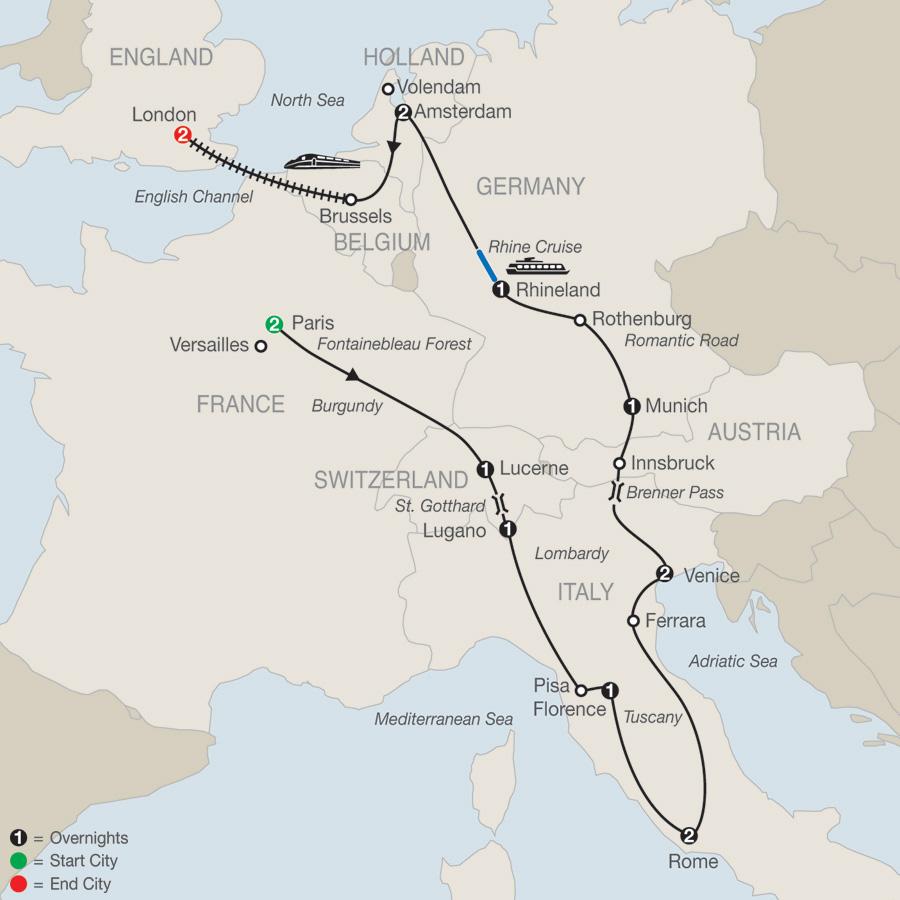 Map Of France And Holland Belgium.Holland Tours Belgium Tours Globus Escorted Tours