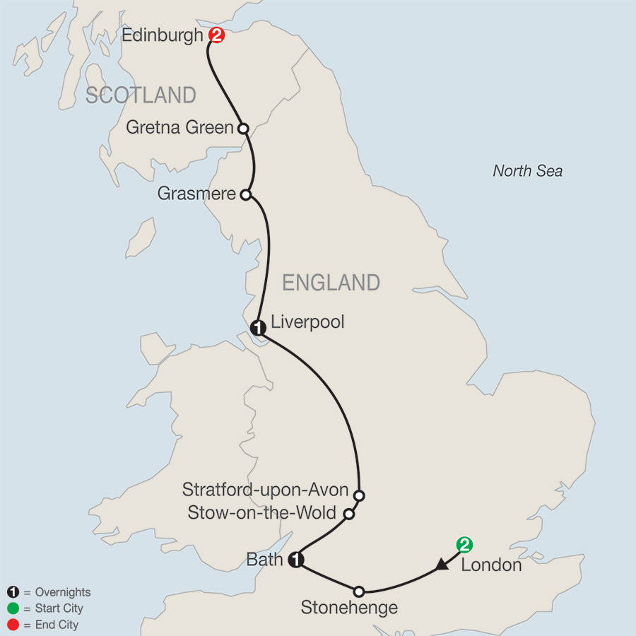 Stonehenge Uk Map.England Tours Globus England Vacation Packages