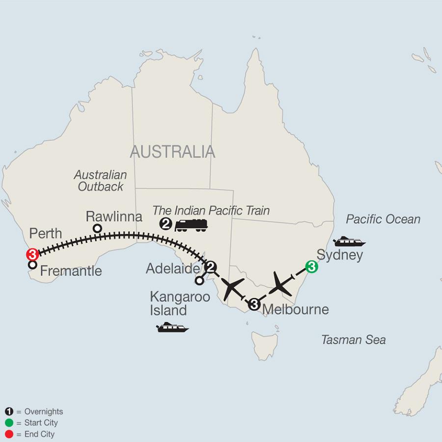 Australia Tour Map.Australia Tours Globus South Pacific Vacations